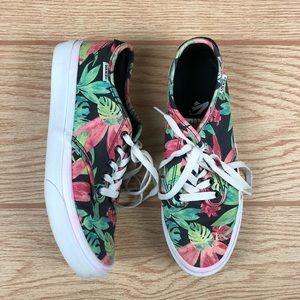 VANS Tropical Jungle Print Lace Up Sneakers